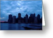 Eutemey Greeting Cards - Alls Quiet In Lower Manhattan Greeting Card by Kendall Eutemey