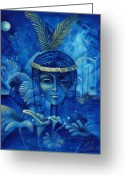 Haitian Greeting Cards - Anacaona Greeting Card by Elie Lescot