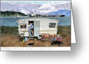 Tanker Greeting Cards - Anacortes Fuel Greeting Card by Perry Woodfin