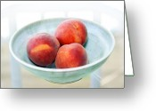 Peaches Greeting Cards - Autumn Peaches Greeting Card by Marilyn Hunt