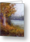 Lakes Pastels Greeting Cards - Autumn Sentinel Greeting Card by Susan Williamson