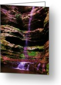 Anna Villarreal Garbis Greeting Cards - Autumn Waterfall I Greeting Card by Anna Villarreal Garbis