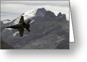 Superhornet Greeting Cards - Axalp Greeting Card by Angel  Tarantella