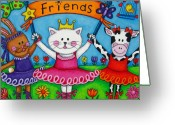 Adorable Bunny Greeting Cards - Ballerina Friends Greeting Card by Lisa  Lorenz