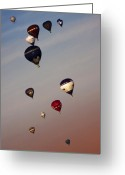 Balloon Fiesta Greeting Cards - Balloons Greeting Card by Angel  Tarantella