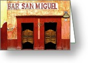 Darian Day Greeting Cards - Bar San Miguel Greeting Card by Olden Mexico