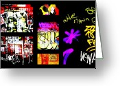 Funkpix Greeting Cards - Barcelona Graffiti  Greeting Card by Funkpix Photo  Hunter