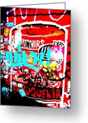 Funkpix Greeting Cards - Barcelona Street Graffiti Greeting Card by Funkpix Photo  Hunter