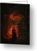 Forbidding Greeting Cards - Barter for your Soul Greeting Card by Jean Gugliuzza