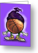 Basketball Greeting Cards - Basketball Wizard Greeting Card by Kevin Middleton