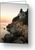 Bass Harbor Greeting Cards - Bass Harbor Lighthouse Greeting Card by Eric Foltz