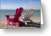 Gulf Of Mexico Greeting Cards - Beach Chairs Greeting Card by David Lee Thompson
