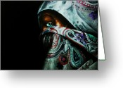 Muslem Greeting Cards - Behind the Veil Greeting Card by Richard Klingbeil