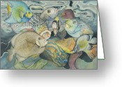 Reef Fish Greeting Cards - Beneath the surface Greeting Card by Liduine Bekman