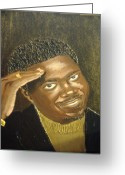 Keenya Woods Greeting Cards - Bernie Mac- The Mac Man Greeting Card by Keenya  Woods