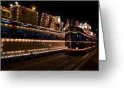 Illuminations Greeting Cards - Blackpool illuminations Greeting Card by Angel  Tarantella