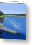 Lilly Pads Greeting Cards - Blackstone Bog Greeting Card by Kenneth M  Kirsch