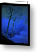 Puddle Greeting Cards - Blue Chill Greeting Card by Jon Palm