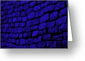 Blue Cobblestone Greeting Cards - Blue Cobblestone Greeting Card by Dana  Oliver