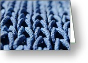 Pattern Greeting Cards - Blue Greeting Card by Dan Holm
