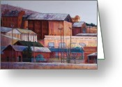 Urban Pastels Greeting Cards - Borderland Mills Greeting Card by Candy Mayer