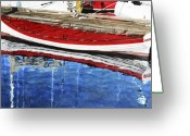 Row Boat Greeting Cards - Broad Daylight Greeting Card by Perry Woodfin