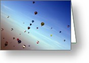 Balloon Fiesta Greeting Cards - Bubbles Greeting Card by Angel  Tarantella