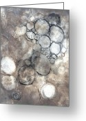 Intaglio Etching Greeting Cards - Bubbles Greeting Card by Rockstar Artworks