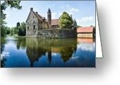 Germany Greeting Cards - Burg Vischering Greeting Card by David Bowman