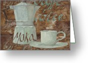 Italia Greeting Cards - Caffe Espresso Greeting Card by Guido Borelli