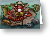 Cajun Greeting Cards - Cajun Critters Greeting Card by Kevin Middleton