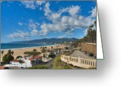 Incline Greeting Cards - California Incline Palisades Park CA Greeting Card by David  Zanzinger