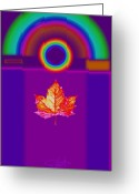 Rainbow Greeting Cards - Canadian Palladian Greeting Card by Charles Stuart
