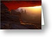 Mesa Greeting Cards - Canyonlands sunrise Greeting Card by Johan Elzenga