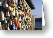 Cape Cod Greeting Cards - Cape Cod Buoys Greeting Card by Dapixara Art