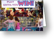 Gameroom Greeting Cards - Carnival Until you Win Greeting Card by Ann Willmore