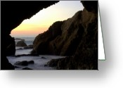 Dana Point Greeting Cards - Cavemans Sunset Greeting Card by Brad Scott
