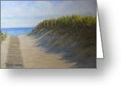 Beach Pastels Greeting Cards - Chatham Beachwalk Greeting Card by Tanja Ware
