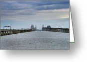 Maryland Greeting Cards - Chesapeake Bay Bridge Maryland Greeting Card by Brendan Reals