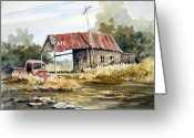 Pickup Painting Greeting Cards - Cheyenne Valley Station Greeting Card by Sam Sidders