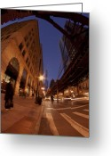 Trump Greeting Cards - Chicago Loop at dusk Greeting Card by Sven Brogren