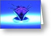 Cicada Greeting Cards - Cicada In UV Greeting Card by Mark Fuller
