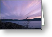 Purple Clouds Greeting Cards - Cirrus Fan Greeting Card by Idaho Scenic Images Linda Lantzy