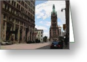 City Hall Greeting Cards - City Hall view from south Greeting Card by Anita Burgermeister