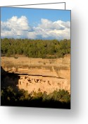 Anasazi Greeting Cards - Cliff Palace Landscape Greeting Card by David Lee Thompson