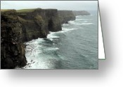 County Clare Greeting Cards - Cliffs of Moher Greeting Card by Joe Bonita
