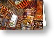 Mocha Greeting Cards - Coffee House Greeting Card by Rich Leighton