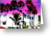 Funkpix Greeting Cards - Collins Av South Beach Miami Greeting Card by Funkpix Photo  Hunter