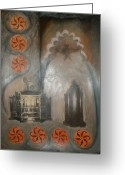 Barbara Nesin Greeting Cards - Cordoba Confessions Greeting Card by Barbara Nesin