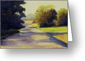 Maryann Stafford Greeting Cards - Country Road Greeting Card by MaryAnn Stafford